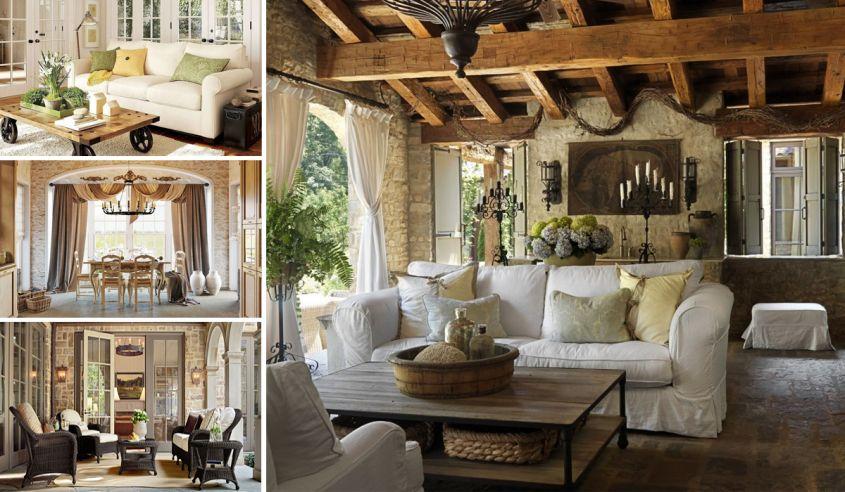 Lo stile di arredamento provenzale arredopi for Arredamento case moderne foto